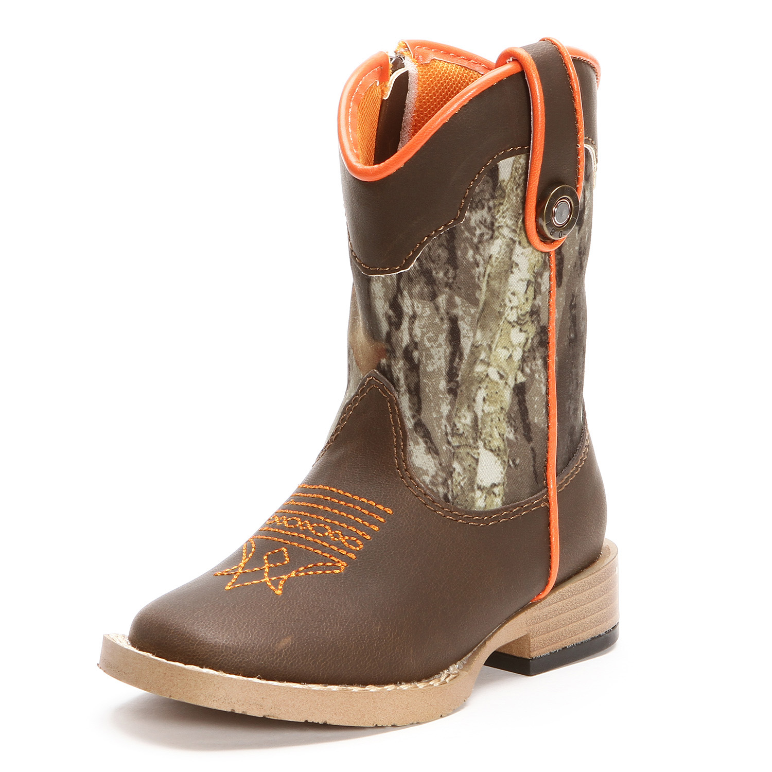 Double Barrel Buckshot Toddler Square Toe Cowboy Boots Camo