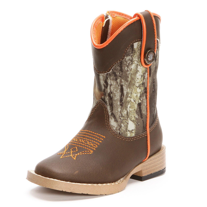 Double Barrel Toddler Boys Buckshot Square Toe Cowboy Boots Camo