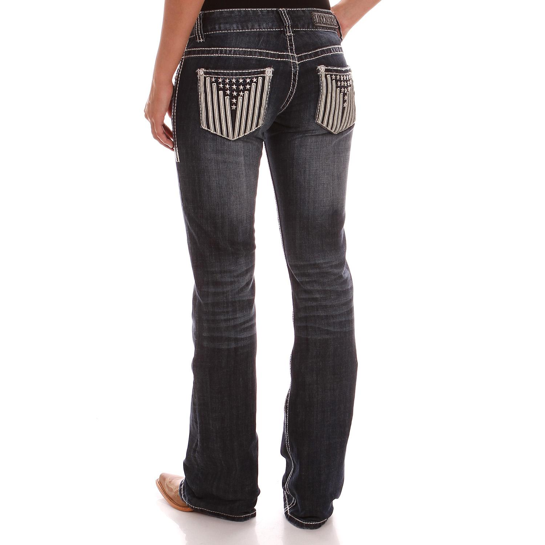 Mens Jeans Low Rise Boot Cut
