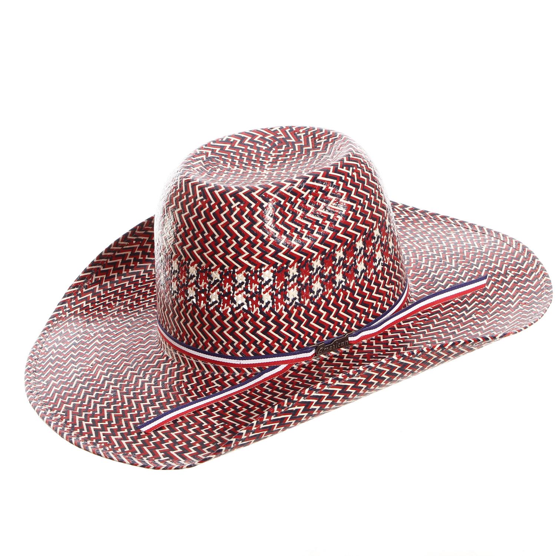 American Hat Co 20 Star Patriotic Straw Cowboy Hats