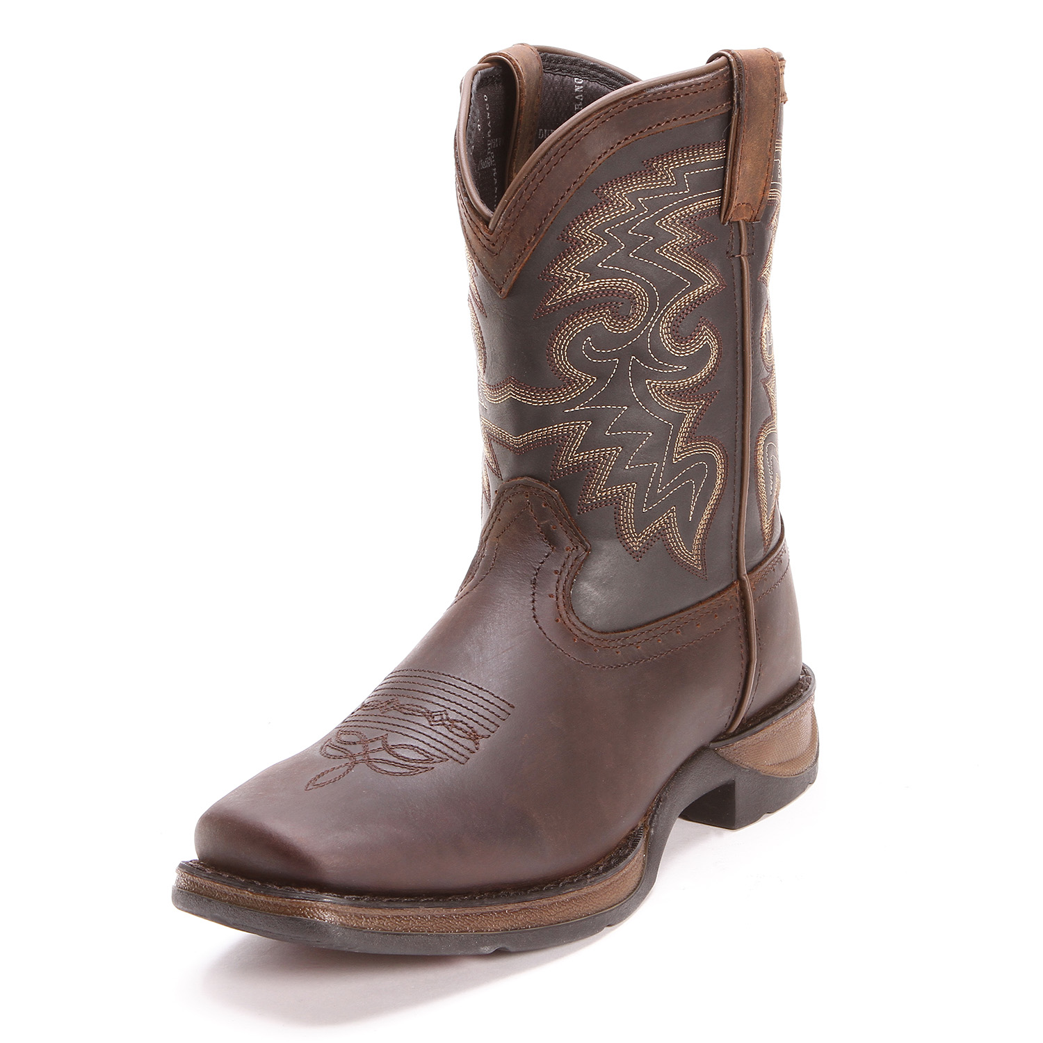 Durango Youth Unisex Rebel Square Toe Cowboy Boots Brown
