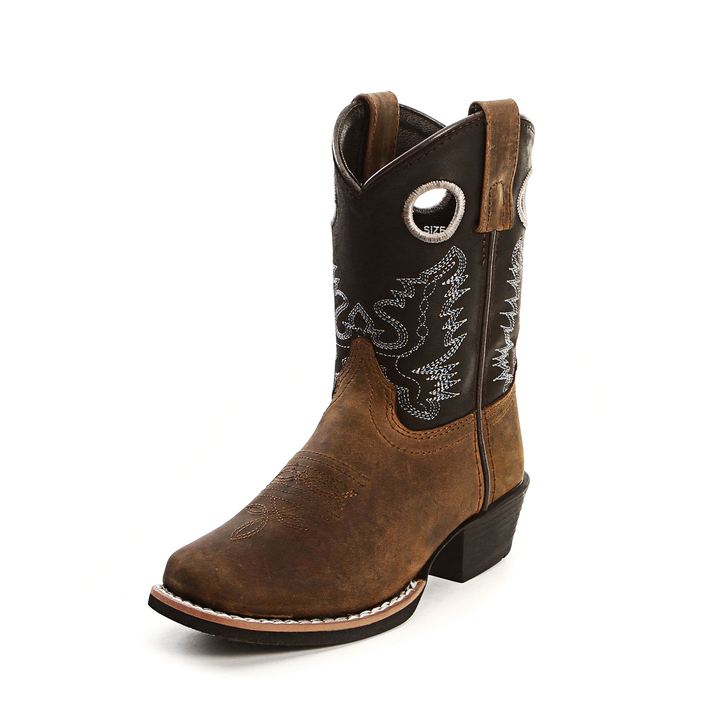 smoky mountain youth brown and black cowboy boots