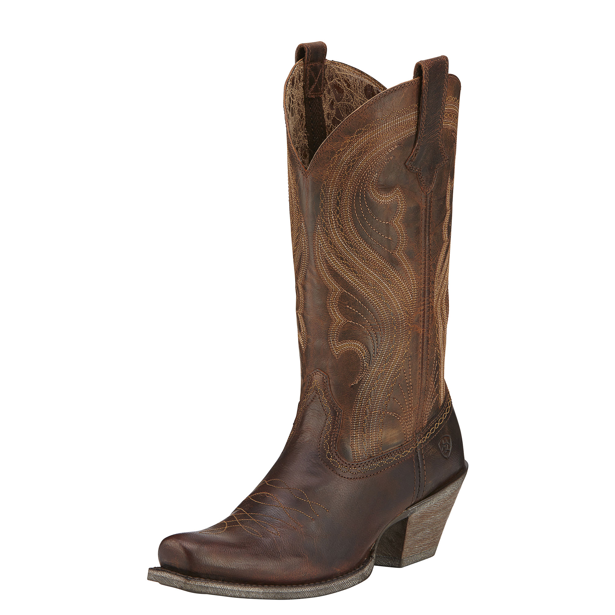 Ariat Womens Lively Square Toe Cowgirl Boots Sassy Brown