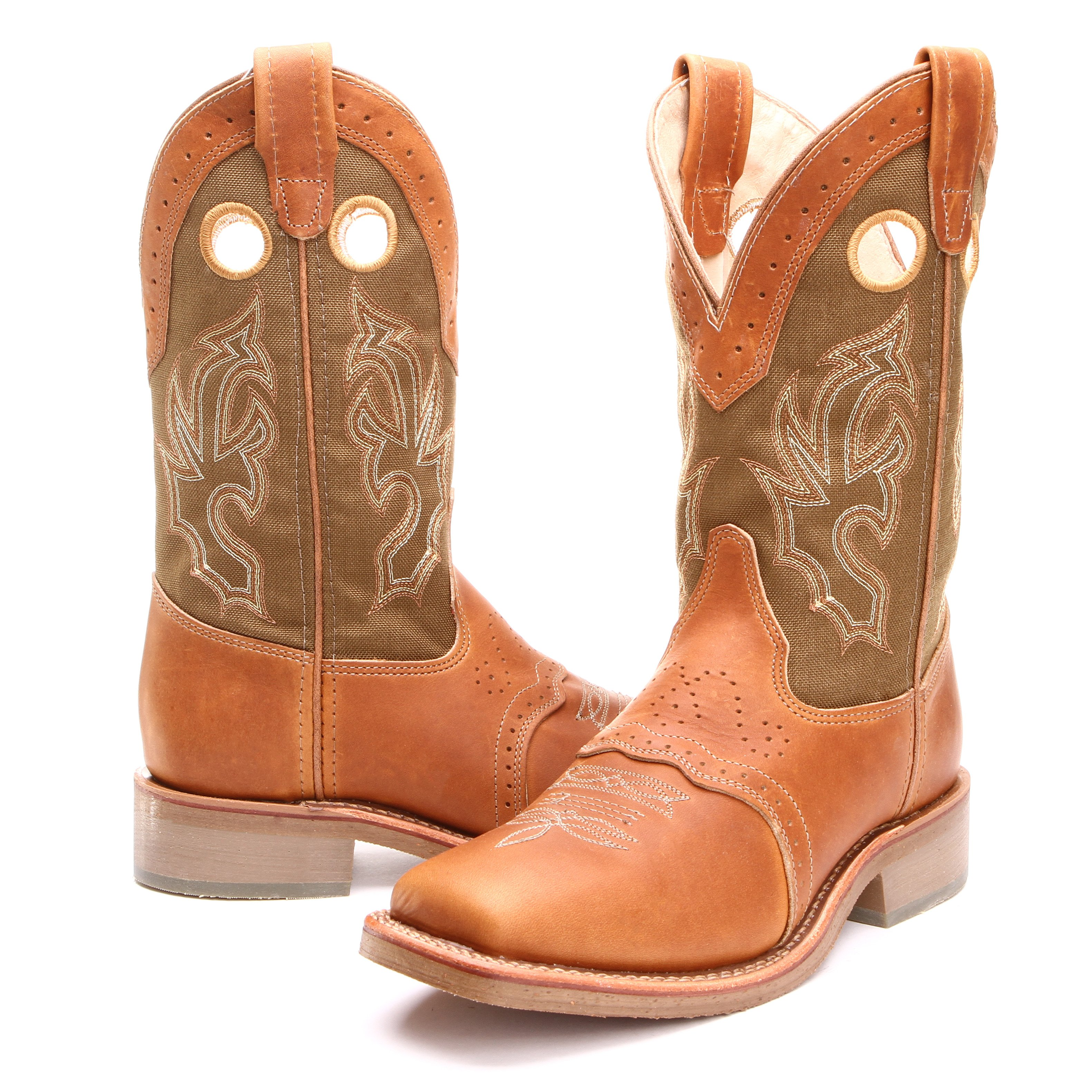 1286367e2eb BootDaddy with Double H Mens Roper Wide Square Toe Cowboy Boots Tobacco