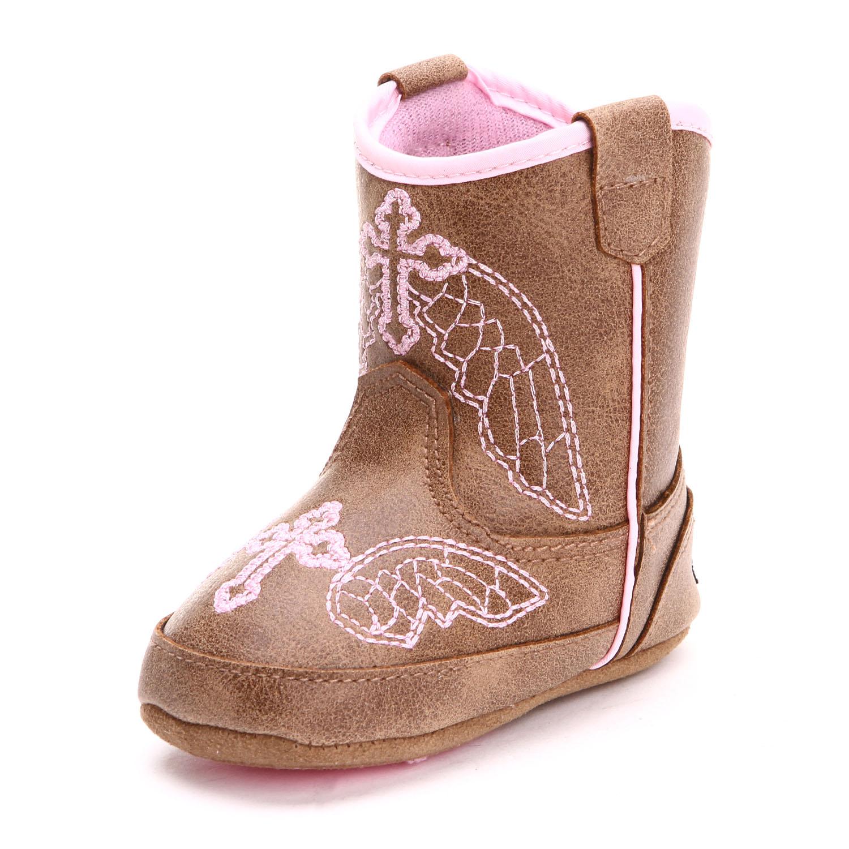 Blazin Roxx Baby Girls Baby Buckers Cowboy Boots Brown