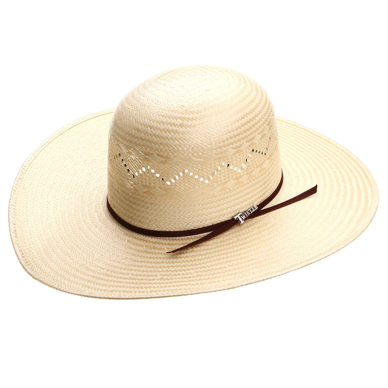 2d081d55930e6 Twister Polyrope Open Straw Cowboy Hat