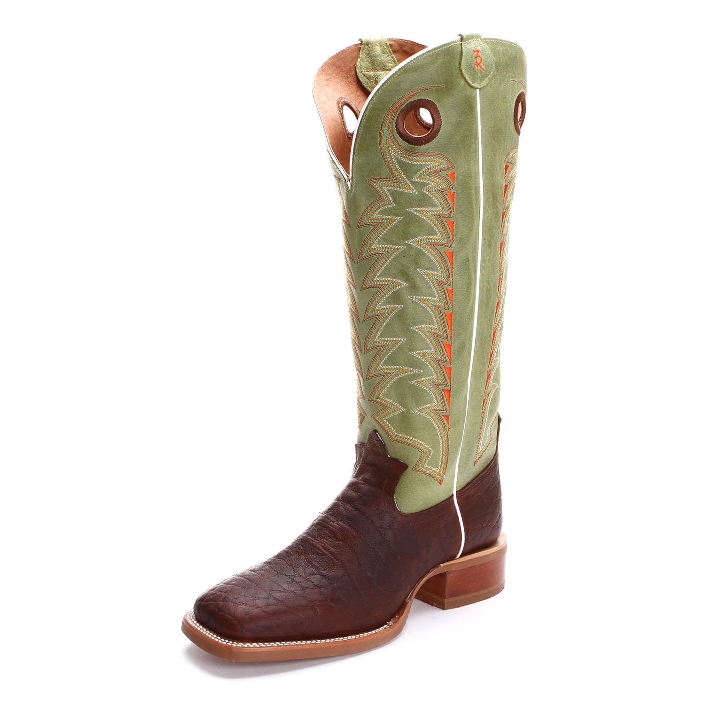 Tony Lama Mens 3r Jasper Buckaroo Wide Square Toe Cowboy