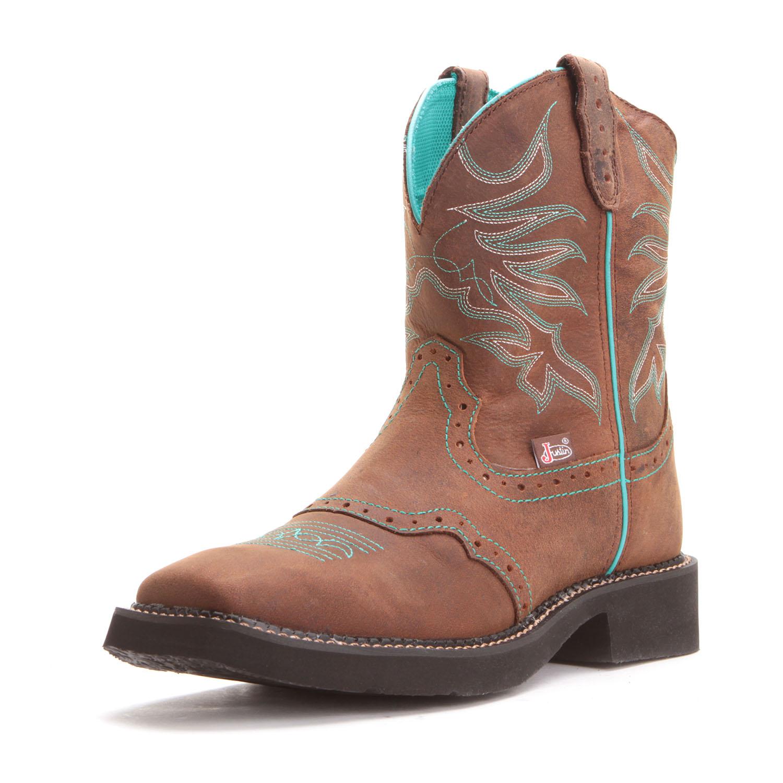 fce2923157e Justin Womens Puma Gypsy Square Toe Cowboy Boots Brown