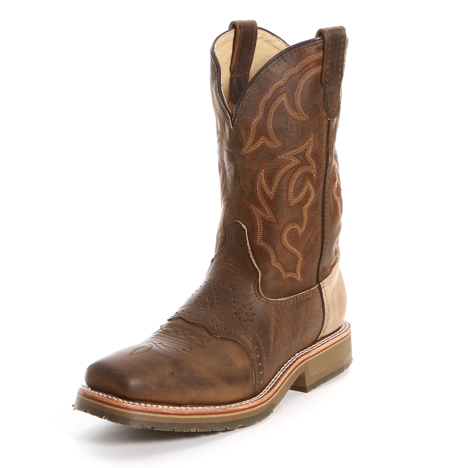 Double H Steel Toe Square Toe Roper Work Boots Brown