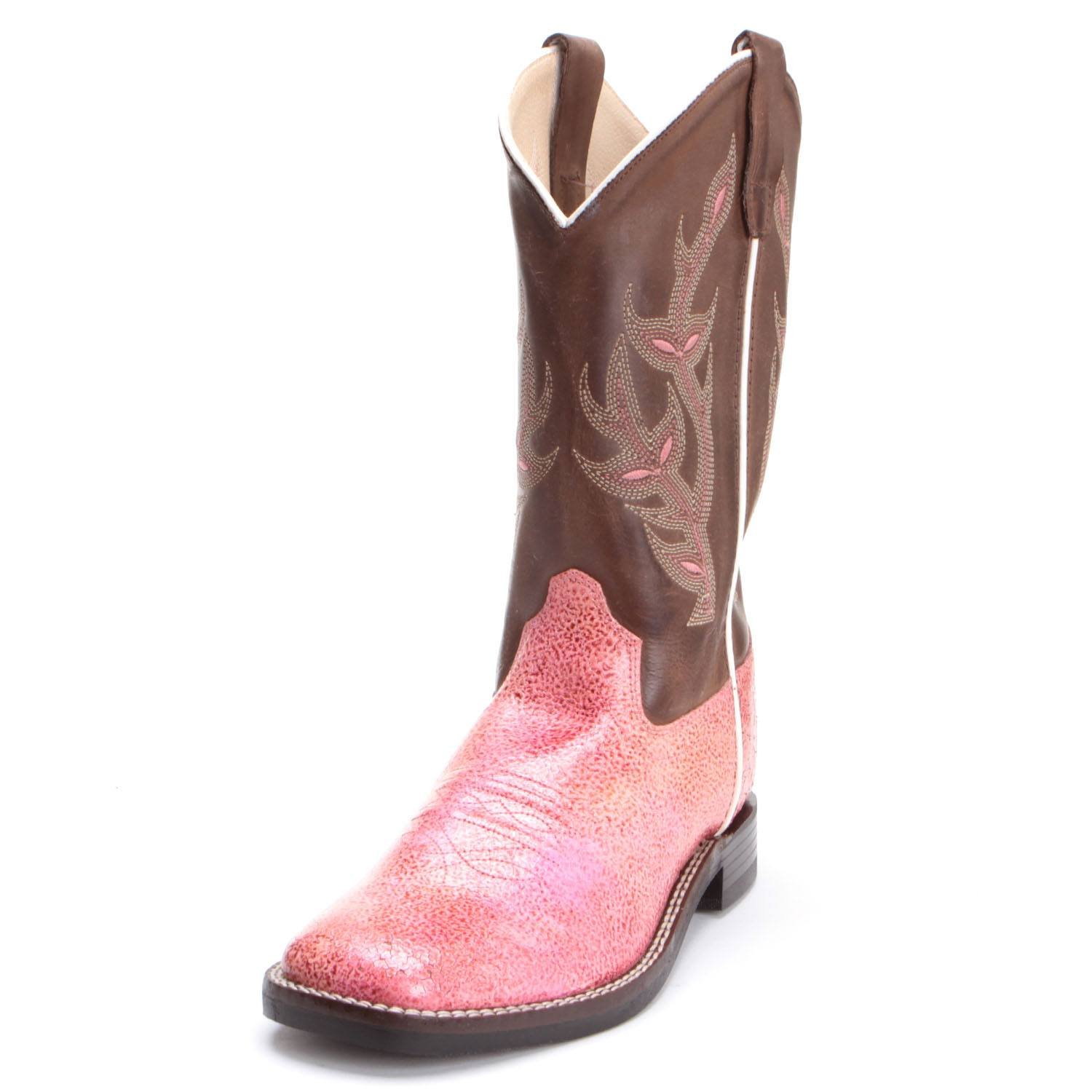 87ce206658d Old West Youth Girls Distressed Sparkling Cowboy Boots Pink