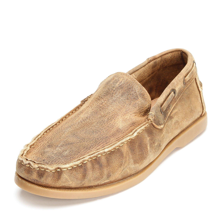 Bed Stu Tan Uncle Larry Moccasin Slip Shoes
