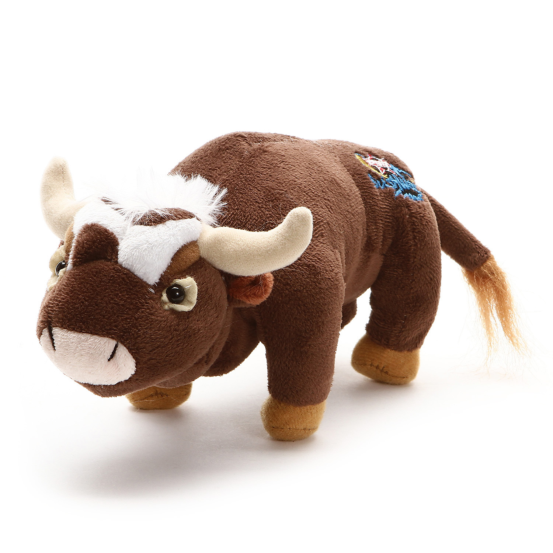 Pbr Brown Plush Bushwhacker Bull Stuffed Animal