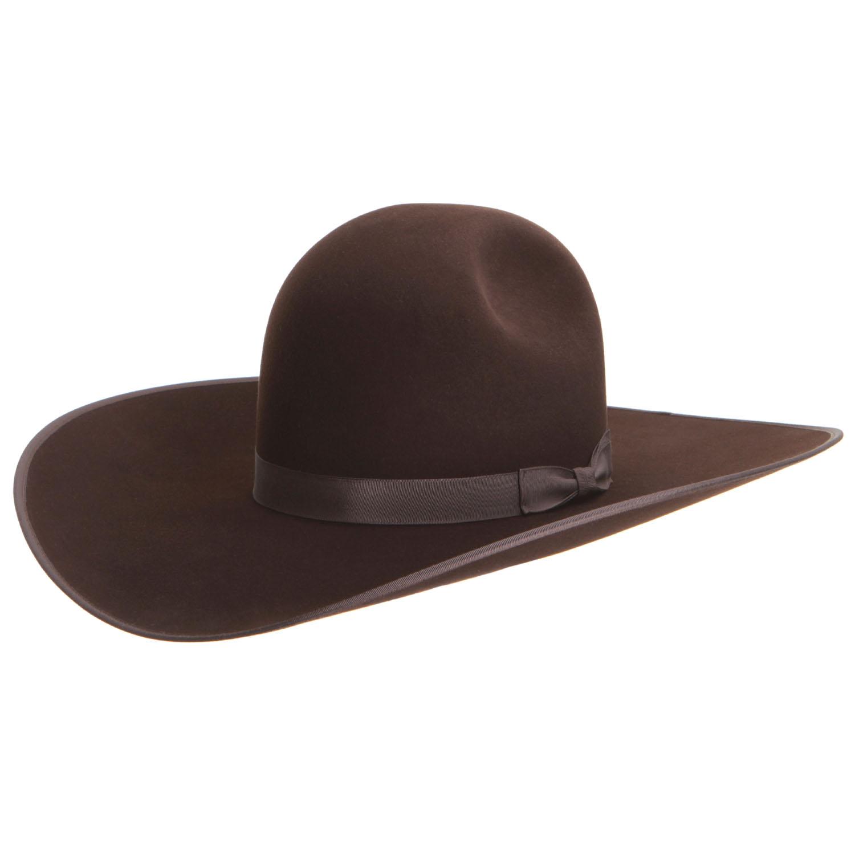7ee79f426b9 Atwood 5X Classic 2 Dot Chocolate Felt Cowboy Hat