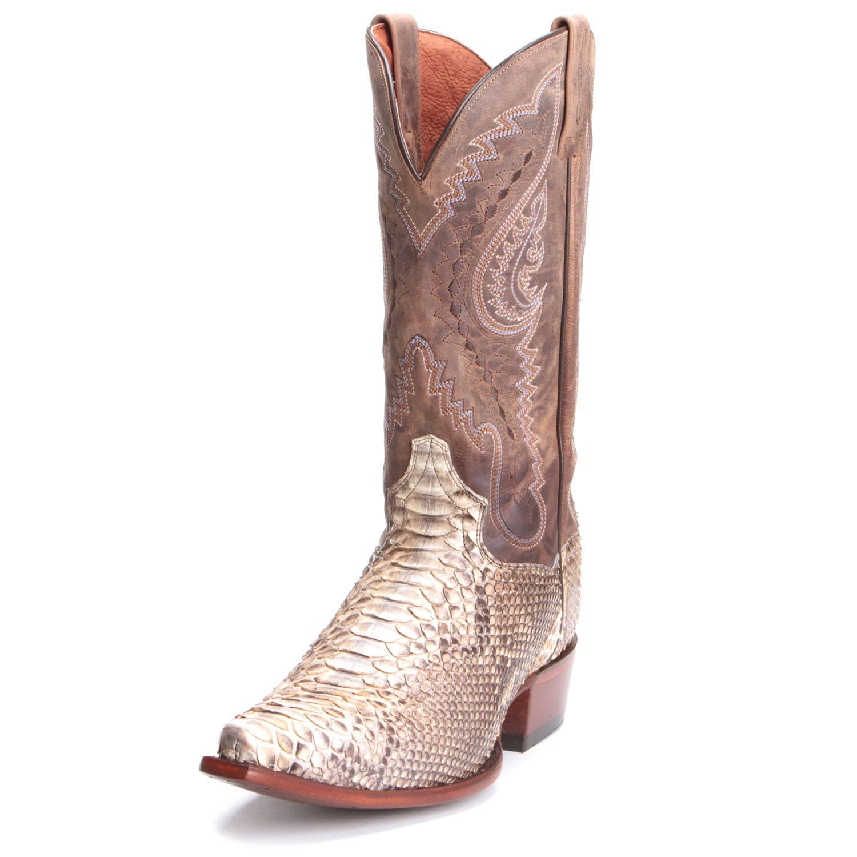 7fa3fb35e87 Dan Post Mens Orlando Python Snip Toe Cowboy Boots Tan
