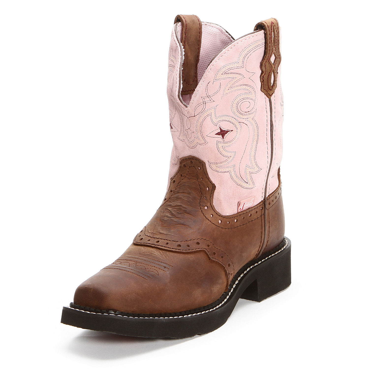 Popular Justin Gypsy Embossed Floral Leather Cowgirl Boots - Square Toe - Sheplers