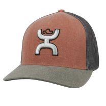 Hooey Coach Rust and Grey Mesh Cap