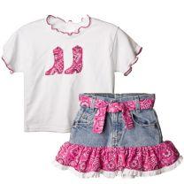 Bandana Shirt & Skirt Set
