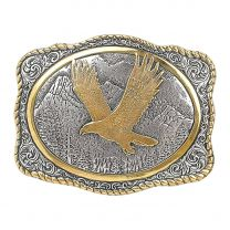Crumrine Mens Gold Plated Soaring Eagle Buckle