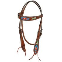 Oxbow Southwest Hand Painted Browband Headstall