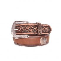 3D Western Mens Cross Concho Leather Belt