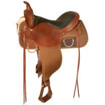 "Circle Y High Horse Lockhart Cordura Trail Saddle (16"", Medium Tree)"