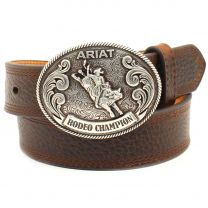 Ariat Children Boys Bison Print Rodeo Belt