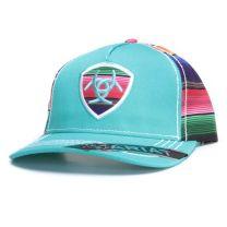 Ariat Womens Turquoise Serape Baseball Cap
