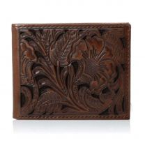 Ariat Mens Bifold Compact Leather Wallet