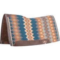Classic Equine Blanket Top Felt Pad (Charcoal/Ocean)