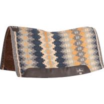 Classic Equine Blanket Top Felt Pad (Charcoal/Seafoam)