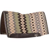 Classic Equine Blanket Top Felt Pad (Charcoal/Sage)