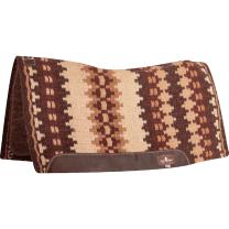 Classic Equine Blanket Top Felt Pad (Coffee/Burgandy)