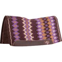 Classic Equine Blanket Top Felt Pad (Coffee/Purple)