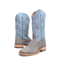 BootDaddy Anderson Bean Mens Gray Buffed Elephant Boots