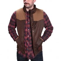 PFI Western Mens Faux Leather Concealed Carry Vest