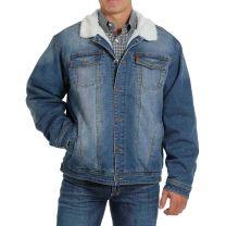 Cinch Mens Trucker Sherpa Lined Denim Jacket