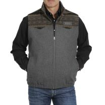 Cinch Mens Charcoal Wooly Concealed Carry Vest