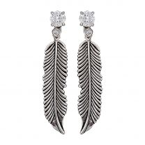 Montana Silversmiths Crystal Feather Earrings