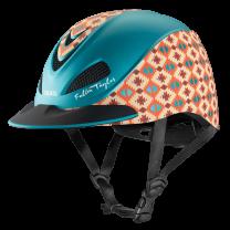 Troxel Fallon Taylor Teal Aztec Helmet