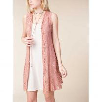 Voice of California Womens Floral Lace Top
