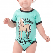 Baby Blue Pasture Bedtime Onesie