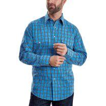 Wrangler Mens Long Sleeve Wrinkle Resist Snap Shirt