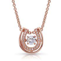 Montana Silversmiths Rose Gold Horseshoe Necklace