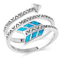 Montana Silversmiths Womens Sky Fletched Arrow Ring Size 8