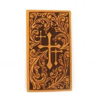 Nocona Mens Faith Cross Rodeo Checkbook Wallet