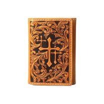 Nocona Mens Faith Cross Trifold Wallet