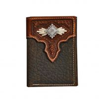 Nocona Mens Southwest Concho Leather Wallet