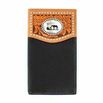 Nocona Mens Cowboy and Steed Rodeo Checkbook Wallet