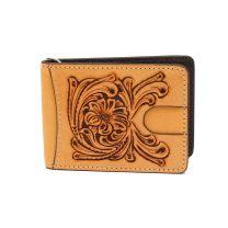 Nocona Mens Leather Embossed Money Clip Wallet