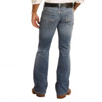 Rock and Roll Mens Vintage Boot Cut Jeans